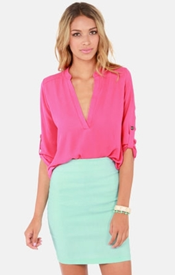 Fuchsia Pink Top