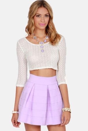 Lavender Bandage Skirt