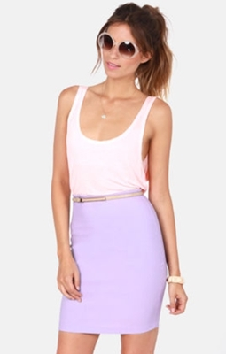 Lavender Pencil Skirt