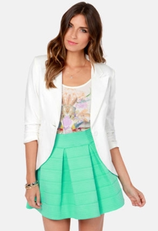 Mint Green Bandage Skirt