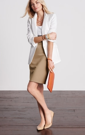 Neutral Outfit for Work Colorblock Ponte Dress