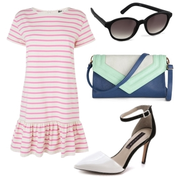 Pink Dropped Waist Dress