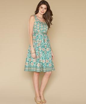 Temple Print Prom Dress