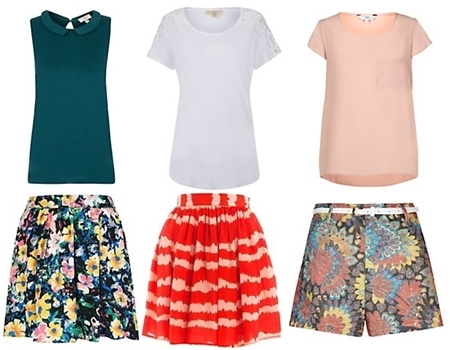 comfy skirts and shorts