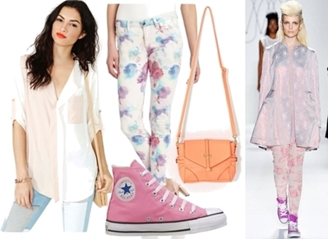 converse shoes with printed jeans