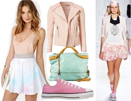 converse shoes with skater skirt
