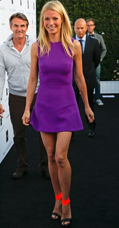 gwyneth paltrow in neon heels
