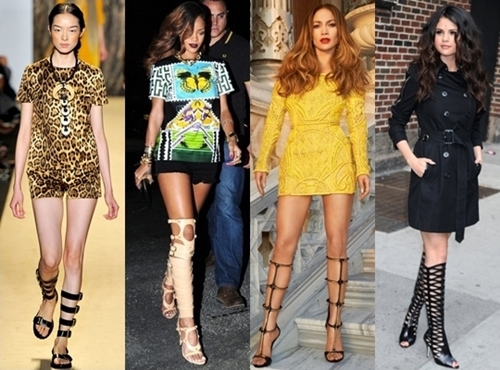 how to wear knee high gladiator sandals