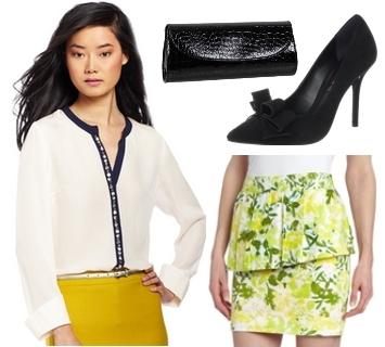 lightweigth shirt and printed skirt1