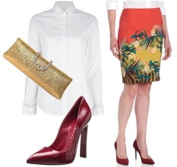 lightweigth shirt and printed skirt2