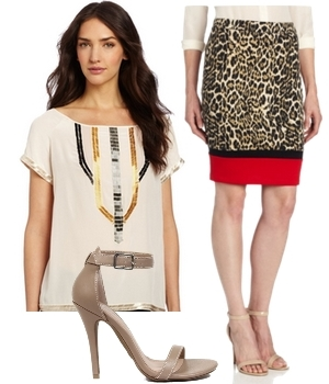 lightweigth shirt and printed skirt3