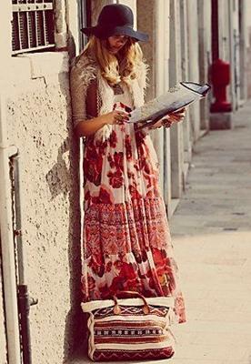 maxi dress with vest