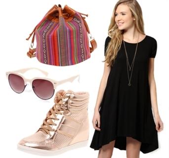 Cap Sleeve Jersey Swing Dress