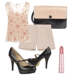 Classic Pump with Instep Strap Outfit