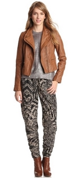 Cognac Leather Asymmetrical Moto Jacket