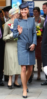 Kate Middleton Blue Missoni Coat