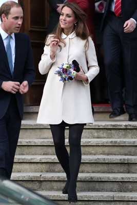 Kate Middleton British Label Goat Coat