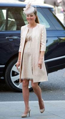 Kate Middleton Jenny Packham coat and dress