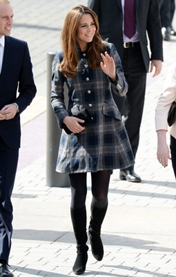 Kate Middleton Moloh-designed tartan coat