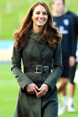 Kate Middleton green Reiss coat