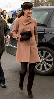 Kate Middleton peach vintage-inspired coat