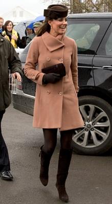 Kate Middleton peach vintage-inspired coat
