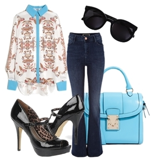 Peep Toe T-strap Pump Outfit