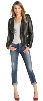 black moto jacket with jeans