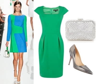 what color shoes to wear with green dress teal green