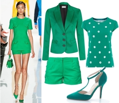 how to wear emerald jacket and shorts
