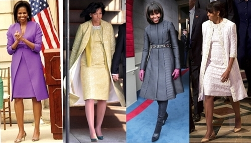 michelle obama chic coats