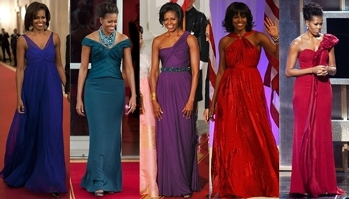 michelle obama long evening dresses