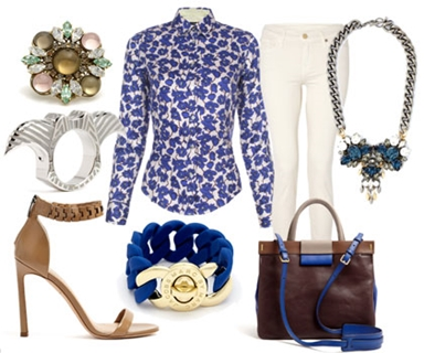 sophisticated floral top outfit