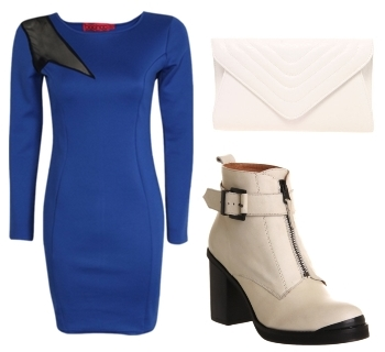 sports lux long sleeve bodycon dress