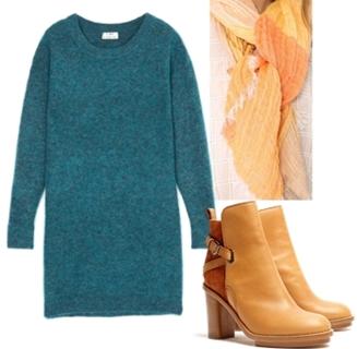 Acne Green Sweater Dress