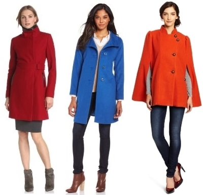 Bright Coats Trend for Fall Winter 2013