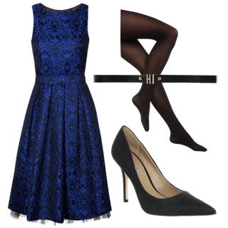 Brocade Floral Pleat Skirt Prom Dress