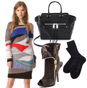 Collage Sweater Dress