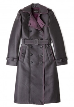 Double Face Taffeta Trench Coat
