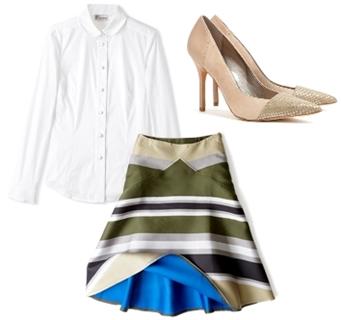 Ostwald Helgason Bonded Stripe Skirt