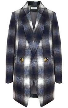 Paisie Double Breasted Tartan Jacket