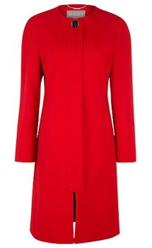Planet Mid-Length Coat Red