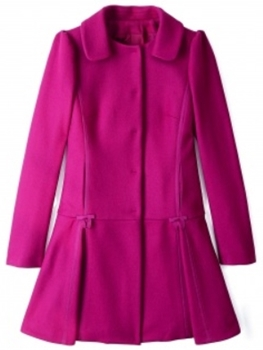 Red Valentino Pleated Flare Coat