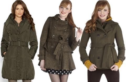 green coats fall trend 2013