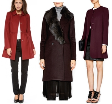 how to wear wine colored coats