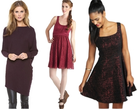 how to wear wine colored dresses