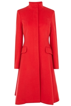 tailored red ALVINA COAT