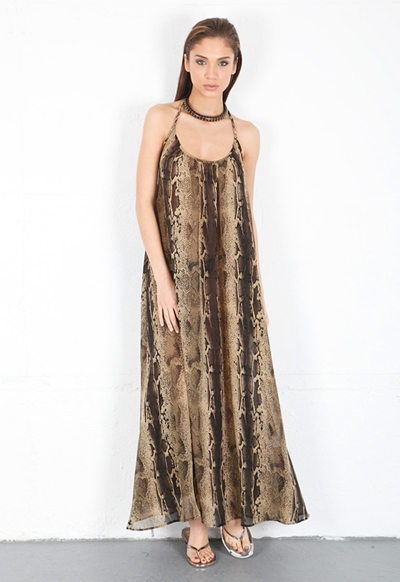 9 Seed Kauai Maxi Dress in Snake