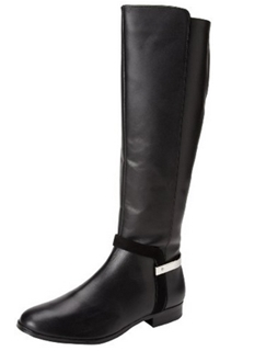 Calvin Klein Womens Randa Kid Suede Calf Riding Boot
