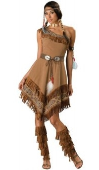 Halloween Character Womens Indian Maiden Costume